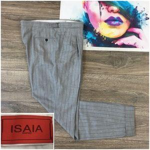 ISAIA Napoli Mens Casual Dress Pants Wool 130s
